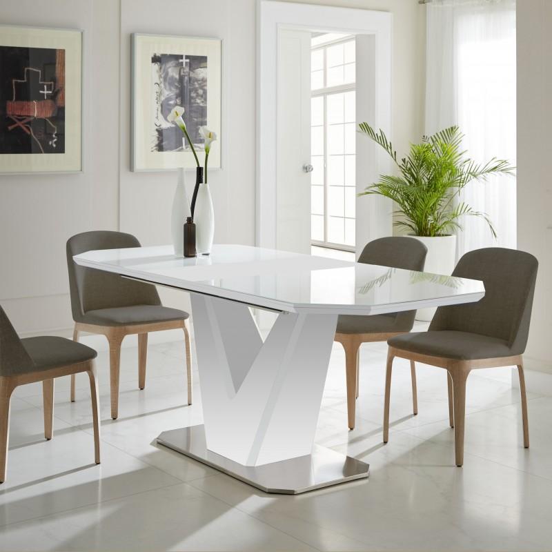 V mesa de comedor extensible 78x160x90cm