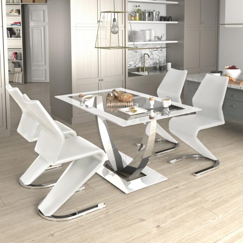 Unique table à manger fixe 75x140x90 cm