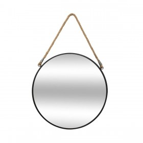 London petit espejo redondo de metal y cuerda ø38x3cm