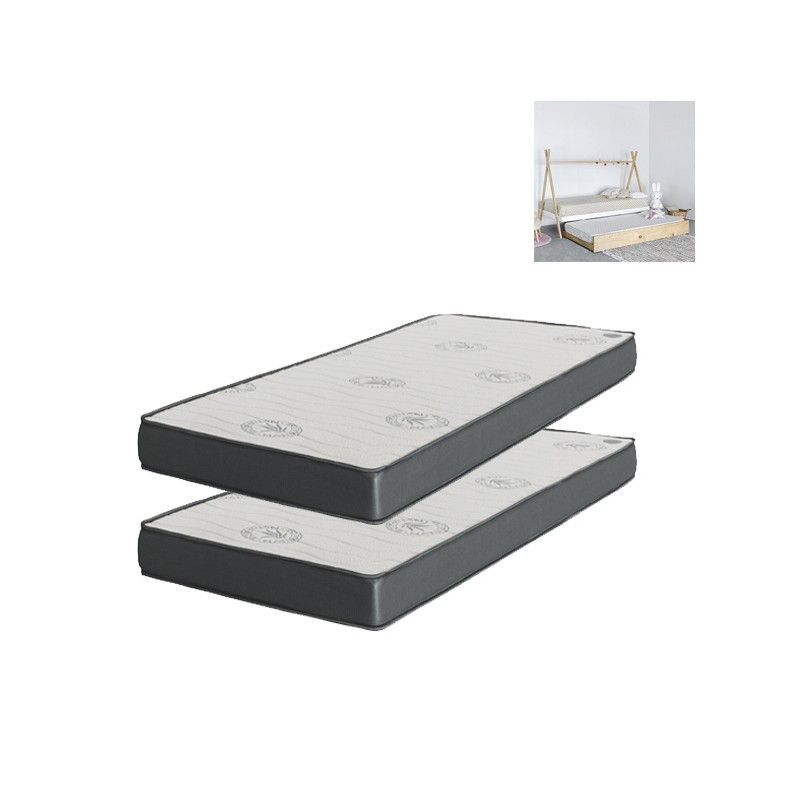 Tipi pack 2 colchones: cama + arrastre o elevable
