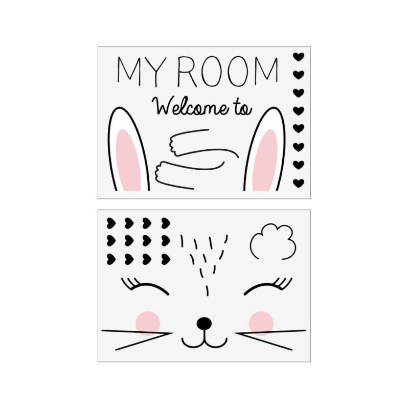 My room vinilo conejito decorativo 50x70cm